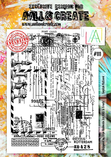 AALL & CREATE - Clearstamp A4 - number 111