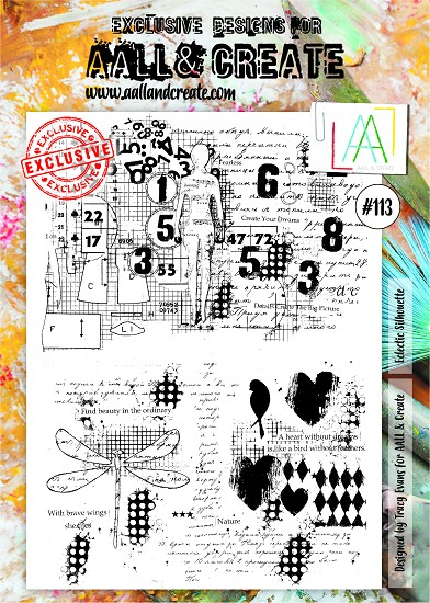 AALL & CREATE - Clearstamp A4 - number 113