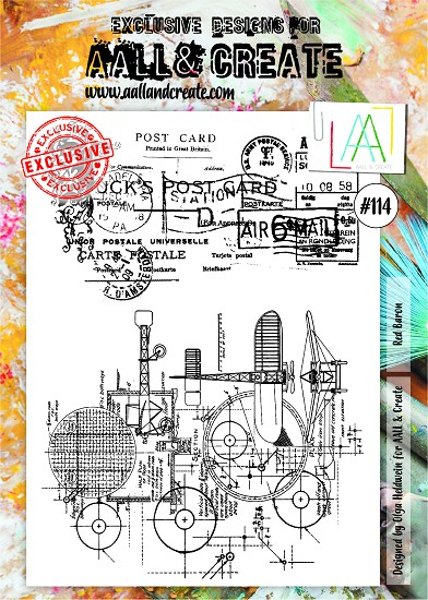 AALL & CREATE - Clearstamp A4 - number 114