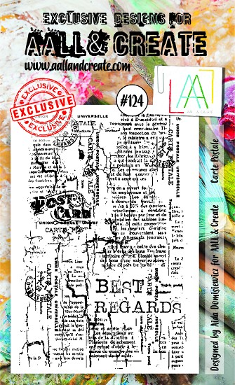 AALL & CREATE - Clearstamp A6 - set number 124