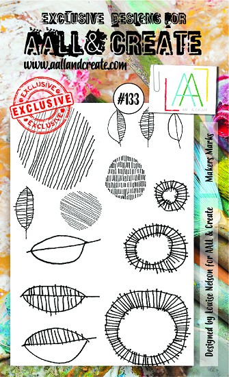 AALL & CREATE - Clearstamp A6 - set number 133