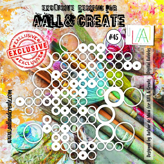 AALL & CREATE - Stencils - set number 45