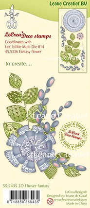 Leane Creatief - Clearstamp - Flower Fantasy