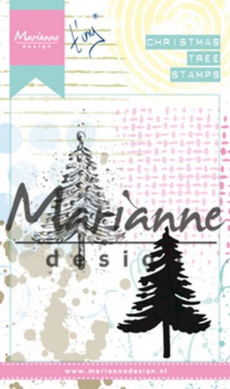 Marianne Design - Clearstamp - Tiny`s Mixed Media Christmas Tree