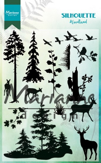 Marianne Design - Clearstamp - Silhouette Woodland