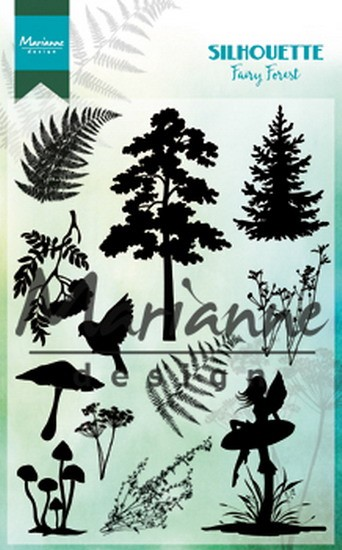 Marianne Design - Clearstamp - Silhouette Fairy Forest