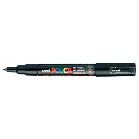 Posca Verfmarker - Extra Fijne Conische Punt 0.7 - 1mm - Zwart