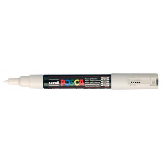 Posca Verfmarker - Extra Fijne Conische Punt 0.7 - 1mm - Wit