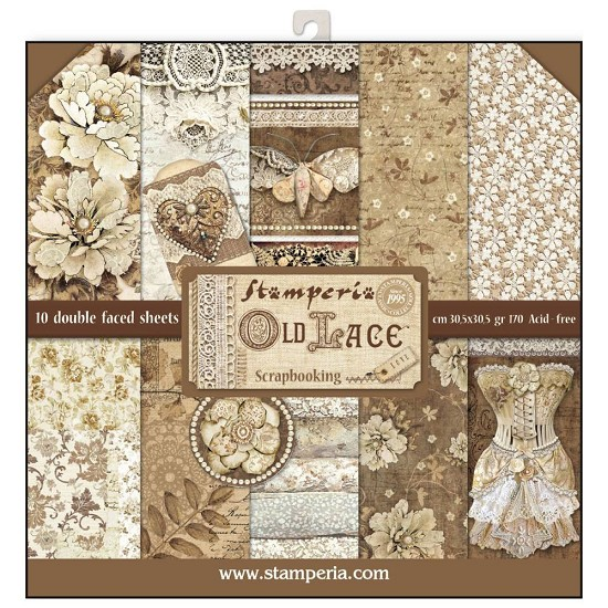 Paperpad Stamperia - 30,5 x 30,5 cm - Old Lace