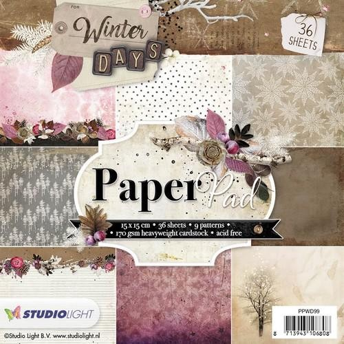 Studio Light - Winter Days - Paperpad 15 x 15 cm - PPWD099