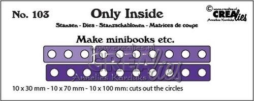 Stansmal Crealies - Only Inside - no. 103 mini book holes