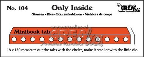 Stansmal Crealies - Only Inside - 104 mini book holes with tab