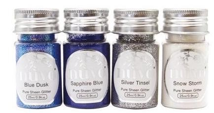 Nuvo - Pure Sheen Glitter - Let it Snow 4 pk