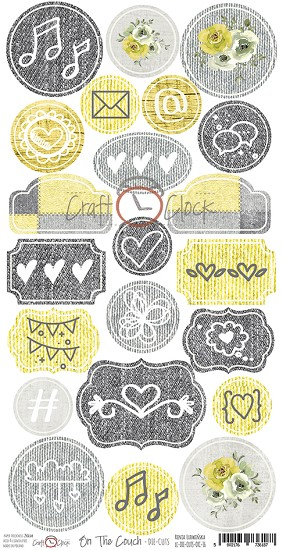 Craft-O-Clock - Die-cuts - On the Couch
