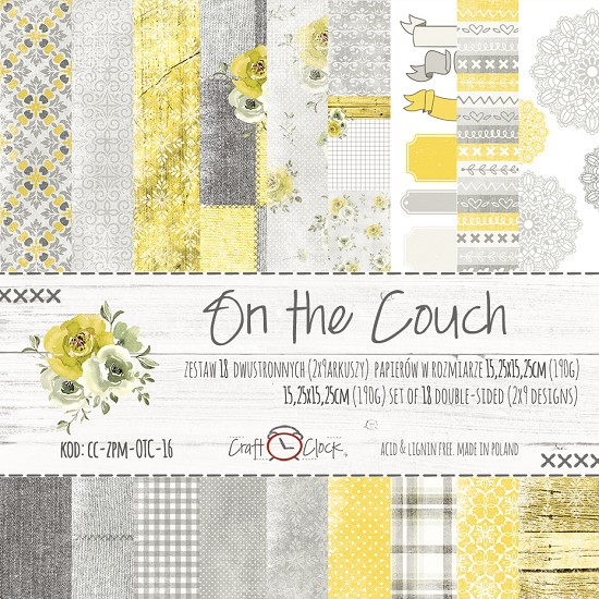 Craft-O-Clock - Paper Collection Set 15,2 x 15,2 cm - On the Couch