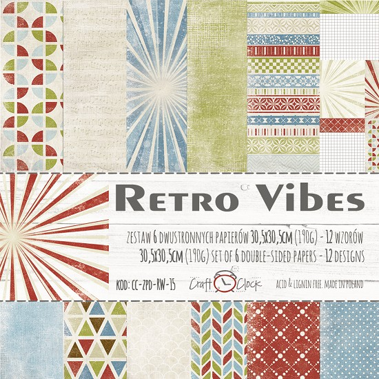 "Craft-O-Clock - Collection Kit 12"" x 12"" - Retro Vibes"
