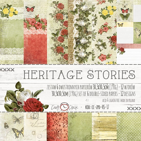 "Craft-O-Clock - Collection Kit 12"" x 12"" - Heritage Stories"