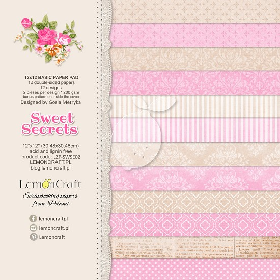 Lemoncraft - Paper Collection Set - Sweet Secrets Basic