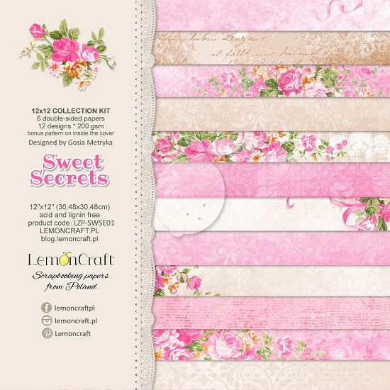 Lemoncraft - Paper Collection Set 30,5 x 30,5 cm - Sweet Secret