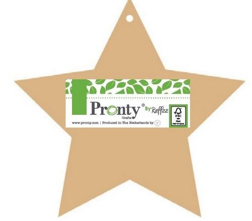 Pronty Crafts by Raffzz - Pretty & Cool - MDF Album Stars