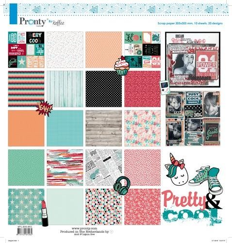 Pronty Crafts by Raffzz - Pretty & Cool - Collection Kit 30,5 x 30,5 cm