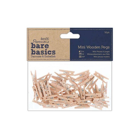 Papermania - Bare Basics - Mini Wasknijpers (50pcs)