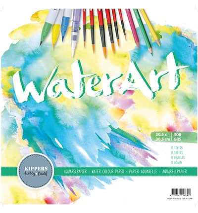 WaterArt - Aquarelpapier - 300 grams - 30,5 x 30,5 cm (8vl)