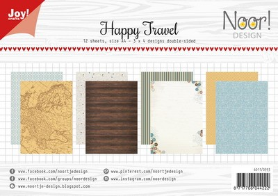 Noor! Design - Paperpad A4 - Happy Travel