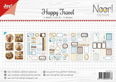 Noor! Design - Labelvellen/knipvel - Happy Travel