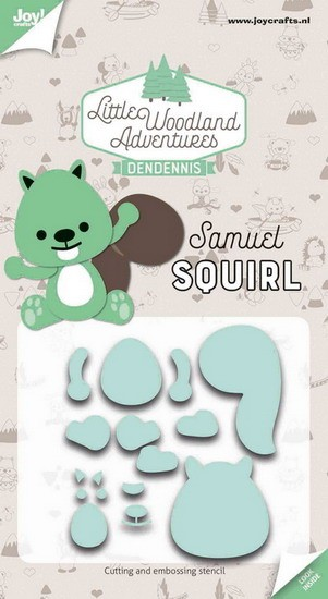 DenDennis - Little Woodland Adventures - Cutting Die Samuel Squirl (eekhoorn)