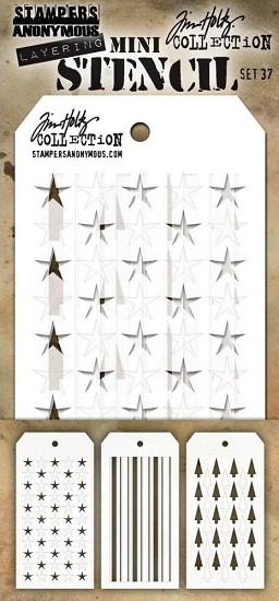 Tim Holtz - Mini Layering Stencil - Set 37