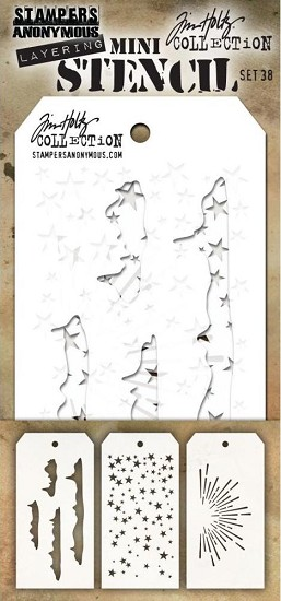Tim Holtz - Mini Layering Stencil - Set 38