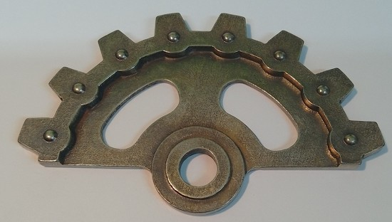 Metal Charm - MitFORM Castings - Half_gear_80mm_1_STE