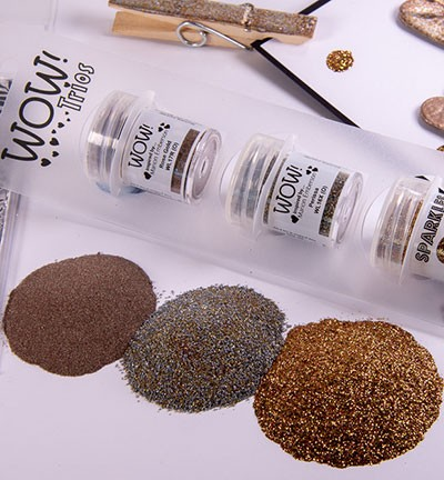 WOW! Embossing Powder - Trios! Pewtilful