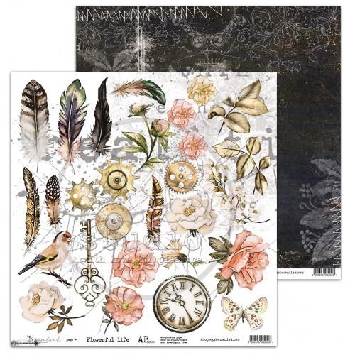 "AB Studio - Scrappapier ""Dreamland"" - Flowerful Life 3/4"