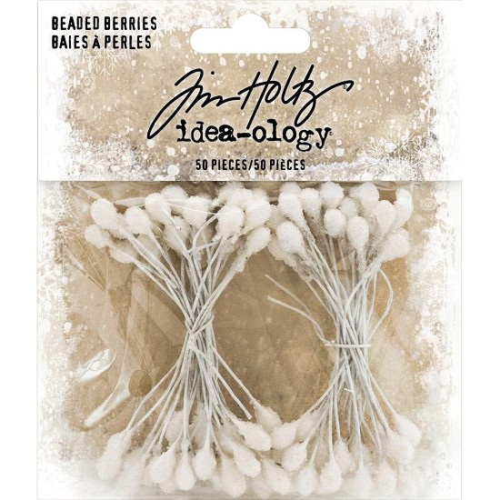 Tim Holtz - Idea-Ology - Beaded Berry Stems 50/Pkg