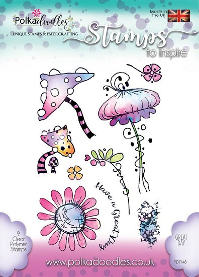 Clearstamp Polkadoodles - Great Days