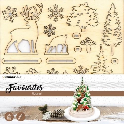Studio Light - Plywood Favourites - Wooden scenery Kerstboom