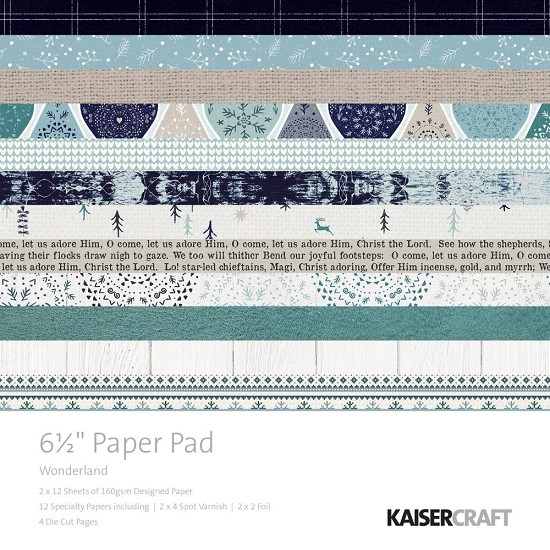 "Paperpad Kaisercraft - Winter Wonderland - 6,5"" x 6,5"""