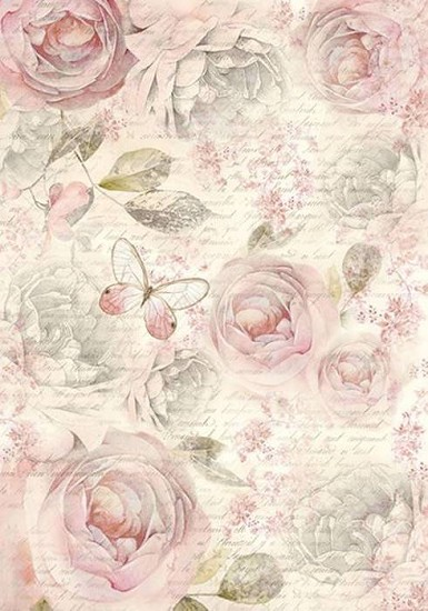 Stamperia - Rice Paper A4 - Shabby Rose
