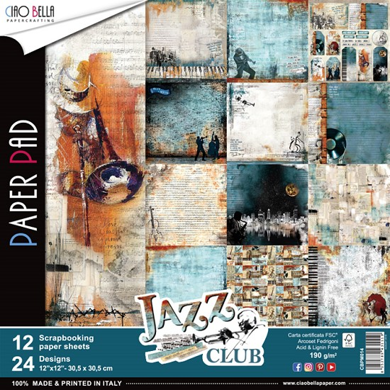 Ciao Bella - Paperpad 30,5 x 30,5 cm - Jazz Club