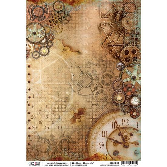 Ciao Bella - Rice Paper A4 - Codex Leonardo - La menti di Leonado