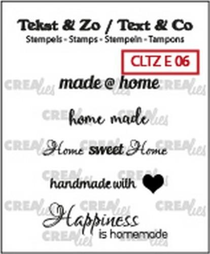 Clearstamp Crealies - Tekst & Zo - Home