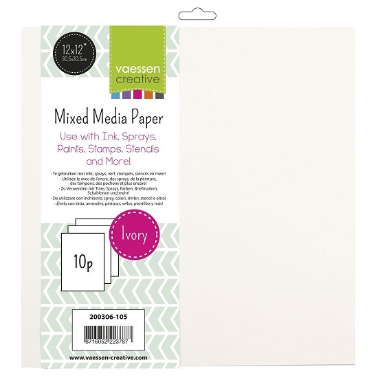 Vaessen Creative - Mixed Media Paper - 30,5 x 30,5 cm (Ivory)