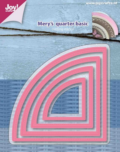 Joy! Crafts - Mery`s - Cutting & Embossingmal - Kwart cirkel basis
