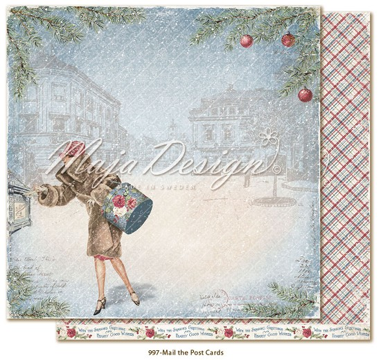 Scrappapier Maja Design - Christmas Season - Mail the Postcards
