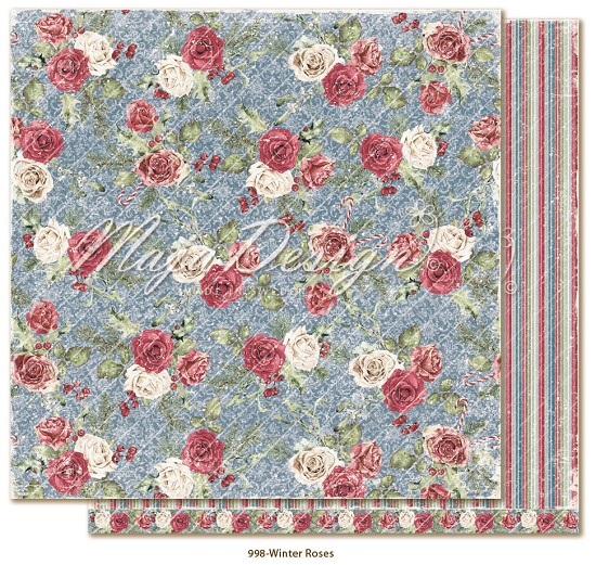 Scrappapier Maja Design - Christmas Season - Winter Roses