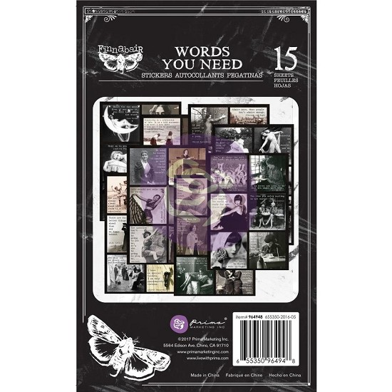 "Finnabair - Art Daily - Sticker Pad 4.5""X7.5"" - Words You Need"