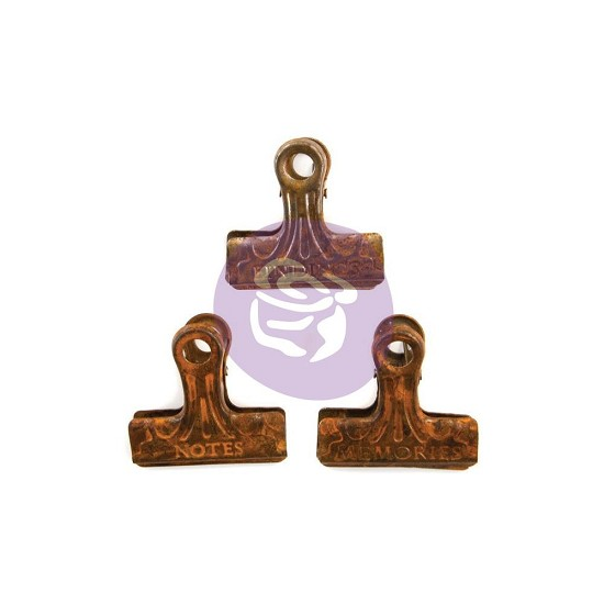 Finnabair - Art Daily - Metal Binder Clips 3/Pkg - Rusty