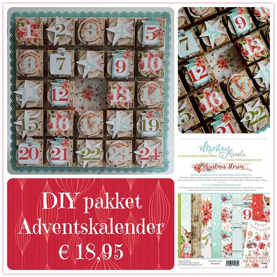 DIY Pakket - Adventskalender Mintay Paper - Christmas Stories